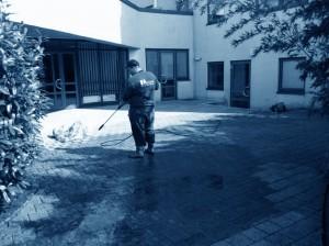 Reinigung Pflastersteine