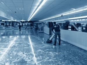 jährliche Grundreinigung Supermarkt