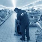 tgl. Unterhaltsreinigung im Supermarkt